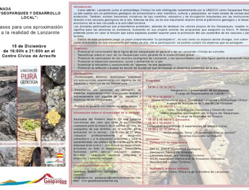 """Jornada de Geoparque y Desarrollo Local """"Bases para una aproximación a la realidad de Lanzarote"""
