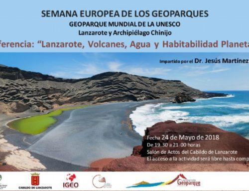 """Conferencia """"Lanzarote, volcanes, Agua y Habitabilidad Planetaria"""""""